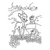 Kleurplaten Bambi