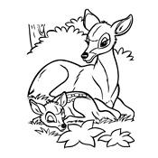 Kleurplaat Bambi 224