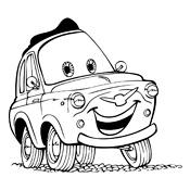 Kleurplaten Cars Pixar