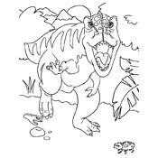 Kleurplaten Van Dieren In Het Bos Kleurplaat Dinosaurus 3802