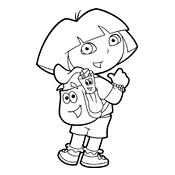 Kleurplaten Dora.Kleurplaten Dora