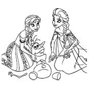 Kleurplaten Prinsessen Frozen.Kleurplaten Frozen Olaf Disney