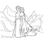 Kleurplaat Frozen Olaf Disney 3911