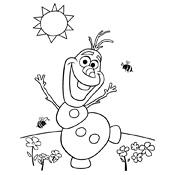En Kleurplaten Frozen.Kleurplaat Frozen Olaf Disney 3932