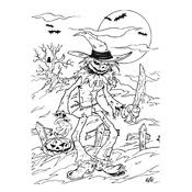 Kleurplaten Halloween Spinnen.Kleurplaten Halloween