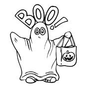 Kleurplaat Halloween 2683