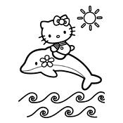 kleurplaten hello kitty zeemeermin