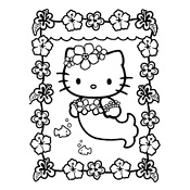 Kleurplaten Hello Kitty Inkleuren.Kleurplaten Hello Kitty