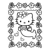 Kleurplaat Hello Kitty | 2304