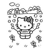 Kleurplaat Hello Kitty 2304