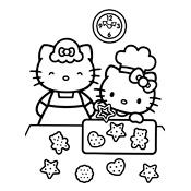 Kleurplaat Hello Kitty 2340
