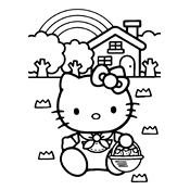 Kleurplaat Hello Kitty 2353