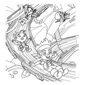 Kleurplaten Jake Nooitgedacht Piraten.Kleurplaat Jake En De Nooitgedachtland Piraten Disney 3567