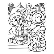 Kleurplaten De Kerstman En Zijn Elfjes Kerstmis