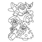 Kleurplaat De Kerstman En Zijn Elfjes Kerstmis 3094