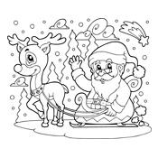 Kleurplaat De Kerstman En Zijn Elfjes Kerstmis 3097