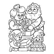 Kleurplaat De Kerstman En Zijn Elfjes Kerstmis 3109