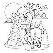 Kleurplaat Kerstmis 3154