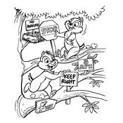 Kleurplaat Knabbel En Babbel Disney 634