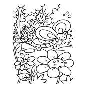 Kleurplaat Lente Seizoen 3690