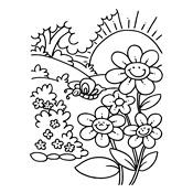 Kleurplaat Lente Seizoen 3697