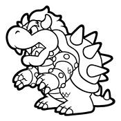 Kleurplaten Mario Kat.Kleurplaten Mario Bros En Luigi Nintendo