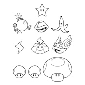 mario 3d world power ups coloring pages coloring pages