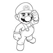 Kleurplaten Printen Mario.Kleurplaten Mario Bros En Luigi Nintendo