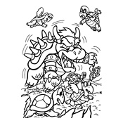 Kleurplaten Mario En Luigi.Mario Kleurplaat Luigo Woyaolu Info