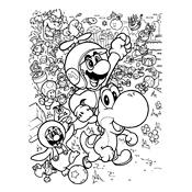 Yoshi Kleurplaten Printen Kleurplaat Mario Bros En Luigi Nintendo 831