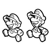Kleurplaten Mario Luigi.Kleurplaat Mario Bros En Luigi Nintendo 840