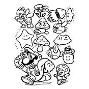Kleurplaten Toad Yoshi.Kleurplaat Mario Bros En Luigi Nintendo 846
