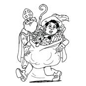 Kleurplaten Van Sinterklaas En Zwarte Piet.Kleurplaten Sinterklaas En Zwarte Piet