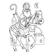 Kleurplaat Sinterklaas En Zwarte Piet 2809