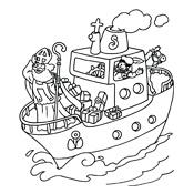 Kleurplaten Sinterklaas Zwarte Piet Stoomboot.Kleurplaat Sinterklaas En Zwarte Piet 2818