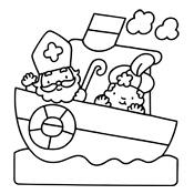 Kleurplaten Sinterklaas Zwarte Piet.Kleurplaat Sinterklaas En Zwarte Piet 2823
