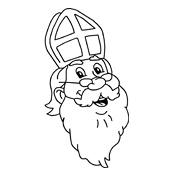 Kleurplaten Zwarte Piet Hoofd.Kleurplaat Sinterklaas En Zwarte Piet 2845