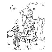 Kleurplaten Van Sinterklaas En Zwarte Piet.Kleurplaat Sinterklaas En Zwarte Piet 2849