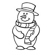 kleurplaat sneeuwman 3015