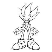 Kleurplaat Sonic (Sega)  1330