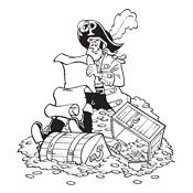 kleurplaat piet piraat studio100 2130
