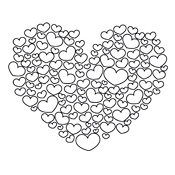 Kleurplaat Valentijn Liefde 3272