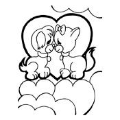 kleurplaat valentijn liefde 3283