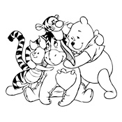 Kleurplaten Winnie The Pooh And Friends.Kleurplaten Winnie De Pooh Disney