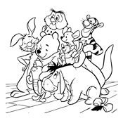 Kleurplaat Winnie De Pooh Disney 1707