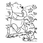 Kleurplaten Herfst Disney.Kleurplaat Winnie De Pooh Disney 1756