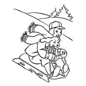 Kleurplaten Winter Vol Sneeuwpret Seizoen