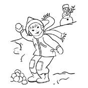 kleurplaat winter vol sneeuwpret seizoen 3194