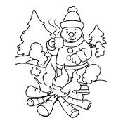 Kleurplaten Seizoen Winter.Kleurplaat Winter Vol Sneeuwpret Seizoen 3247