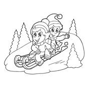 Kleurplaten Seizoen Winter.Kleurplaat Winter Vol Sneeuwpret Seizoen 3257